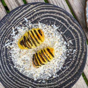 Pečen krompir, tartufi in rikota160