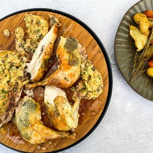 Pečen piščanec s filo in tartufi040