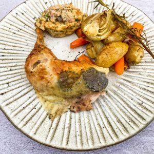 Pečen piščanec s filo in tartufi064